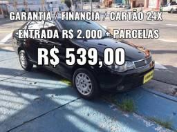SIENA 1.0 , COMPLETO , ENTRADA + PARCELAS R$ 539,00