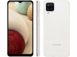 Smartphone Samsung Galaxy A12 64GB Branco 4G -   6,5? Câm. Quádrupla + Selfie 8MP