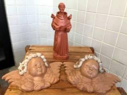 3 Imagens de Cerâmica Arte Sacra