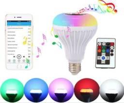 Lâmpada bluetooth RGB 16 cores com música