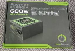 Fonte para PC Gamer, 600W - OnePower