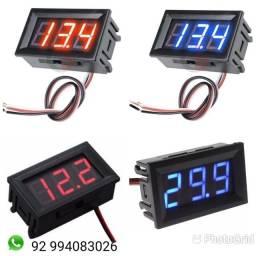 Voltímetro Digital Automotivo 12V com 03 Fios Remote.