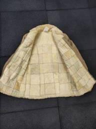 Casaco de couro e Lã de Carneiro