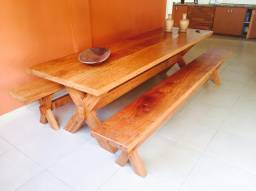 Mesa madeira maciça 2,50 x 0,90