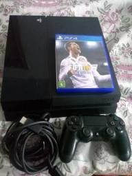 Ps4 fat com FIFA 18 aceito ps3 e volta