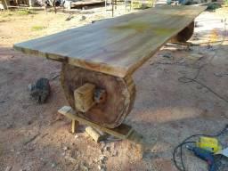Troco mesa rústica