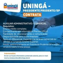 Auxiliar Comercial - Presidente prudente (SP)