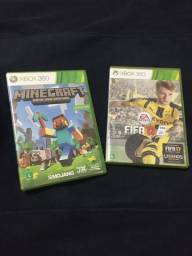 Minecraft & FIFA 17 - Xbox 360 Originais