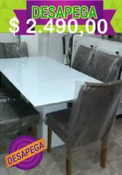 Conj Luxo Novo Mesa e Cadeiras Desapega