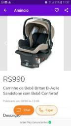 Bebê conforto britax com base
