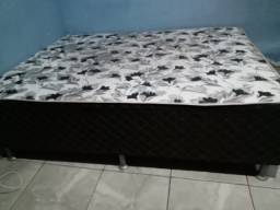 Vendo cama box de casal semi ortopedia
