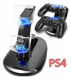 (NOVO) Carregador Controle PS4 Suporte Dock Vertical