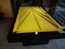 Mesa Sedução Semi Oficial Cor Preta Tecido Amarelo Mod. WXMI9183