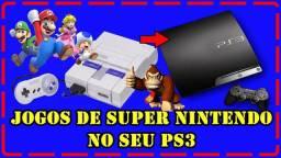 Jogos de super Nintendo no seu Ps3 travado