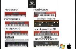 Usado, +1000 timbres - nords, montage, red pianos, s90es e muito mais comprar usado  Embu