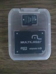 Adaptador com cartão de memória 4 gigas