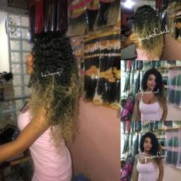 Mega hair Entrelace ou ponto americano com cabelo orgânico comprar usado  Manaus