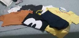 Camisas, calça e camisetas masculino infantil