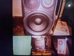 Kit Som, Caixa de som, Módulo E Fonte De Alimentação