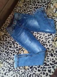 Troco essa calça.top.com zip na perna semi Nova.