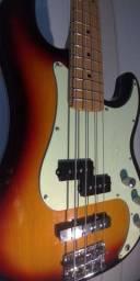 Baixo Tagima Woodstock Tw-65 4 Cordas Precision Pj Sunburst Escudo Mint Green