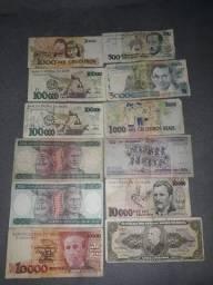 Vendo notas de cruzeiro dinheiro antigo