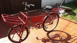 Bicicleta cargueira semi nova