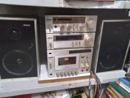Aiko 3000 Rádio, Receiver, Tape Deck E Duas Caixas Originais