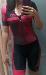 Macacão de ciclismo feminino