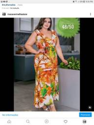 Vestido em Poly Larissa Plus Size