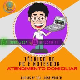 Manutenção de Notebook e Pc Domiciliar - *