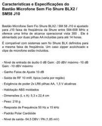Microfone sem fio BLX2 SM58 J10