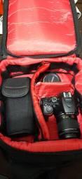 Nikon D5600+flash+lente 35mm