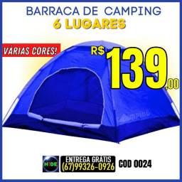 Barraca de Camping - 6 Lugares Várias Cores(Entrega GRÁTIS)