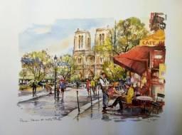 Gravura de Paris - Notre Dame