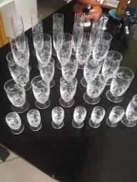 Taças de cristal 27 peças