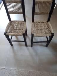 vendo par de cadeiras de corda