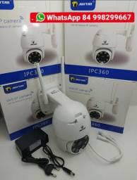 Câmera 360° Ip 2.0mp Full Hd Mini Speed dome Conexão Wifi e sensor de movimento