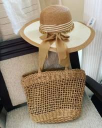 Kit com bolsa com chapéu
