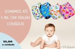Kit Fralda Ecológica e Absorvente de Microfibra