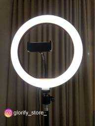 Ring Light Profissional de 26cm e 30cm, Led Fotos, vídeos, live streaming e youtube