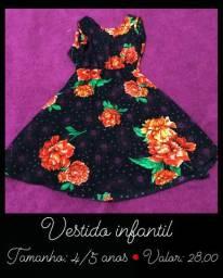 Vendo vestido floral infantil