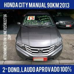 Honda City 1.5 Dx Flex Manual 2°dono Impecável Zero 2013