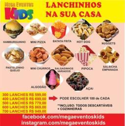 Lanchinhos fast food para festas