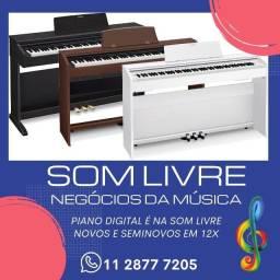 Piano digital é aqui! Roland, Korg, Yamaha, Casio e muito mais 12x sem juros!