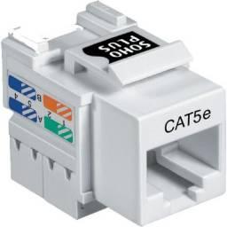 Conector Fêmea CAT. 5E Branco Keystone RJ45 Soho Plus