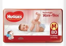 Fralda Huggies Supreme Care M 80 Unidades