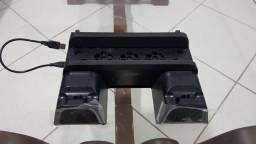 Base Vertical Carregador Cooler 3 In1 Ps4 DOBE NOVO