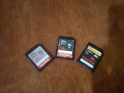 3 Cartões de memoria SD ultra