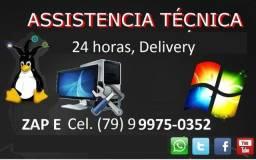 Técnico de Informática Aracaju, Socorro, Barra e São Cristóvão Delivery 24 hrs